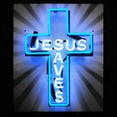 Neonetics 5JSAVES Jesus Saves Neon Sign