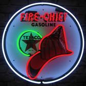Neonetics 5TXFIR Texaco Fire Chief Neon Sign