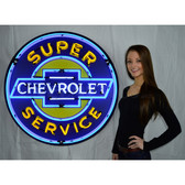 Neonetics 9CHEVYB Super Chevrolet Service 36 Inch Neon Sign In Metal Can