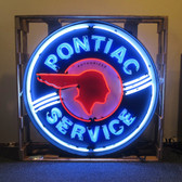 Neonetics 9PONBK Pontiac Service 36 Inch Neon Sign In Metal Can