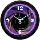 Neonetics 8SWIRL 8 Ball Swirl Neon Clock