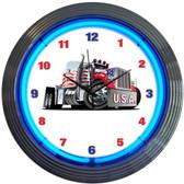 Neonetics 8BGRIG Big Rig Truck Neon Clock