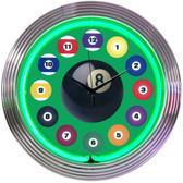 Neonetics 8BLDBG Billiard Ball Green Neon Clock