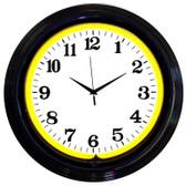 Neonetics 8BANDY Black Rim Yellow Standard Neon Clock