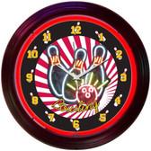 Neonetics 8BOWLX Bowling Neon Clock