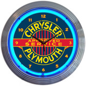 Neonetics 8CRYPL Chrysler Plymouth Neon Clock