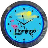 Neonetics 8FLAMX Flamingo Diner Neon Clock