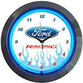 Neonetics 8FRACE Ford Racing Neon Clock