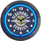Neonetics 8OLDSM Gm Oldsmobile Service Neon Clock