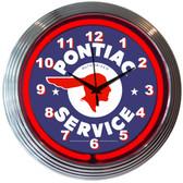 Neonetics 8PONTI Gm Pontiac Service Neon Clock