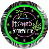 Neonetics 8IT420 It'S 4:20 Somewhere Neon Clock