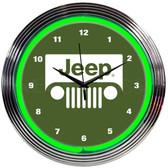 Neonetics 8JEEPG Jeep Green Neon Clock