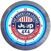 Neonetics 8JEEPX Jeep The American Legend Neon Clock
