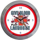 Neonetics 8LAXXX Lacrosse Neon Clock