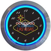 Neonetics 8VEGSN Las Vegas Sign Neon Clock