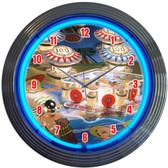 Neonetics 8PINBX Pinball Neon Clock