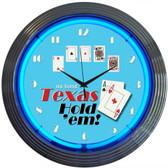 Neonetics 8HOLDM Poker Texas Hold 'Em Neon Clock