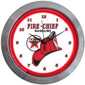 Neonetics 8TXFIR Texaco Fire Chief Neon Clock