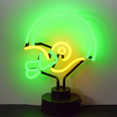 Neonetics 4GYHEL Green And Yellow Football Helmet Neon Sculpture