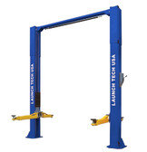 Scratch and Dent Launch Tech Usa Tlt210-Xt-B 10,000 Lb Two Post Clear Floor - Asymmetric - Ali/Etl Certified - Blue