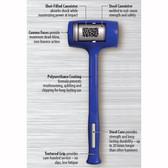 Baileigh BH-61-550F 50OZ flat-flat hardface hammer