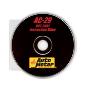 Auto Meter AC-29 Dvd Instruction Video For The Bct-200J