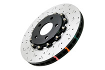 DBA Drilled & Slotted 5000 Series Rotor w/ Black Hat (Front)