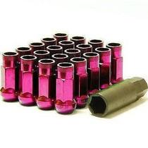 32905K  -Muteki SR48 Lug Nuts  Color: Pink; Length: 48mm; Size: 12x1.25