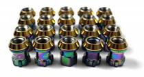 Project Kics R26 M12x1.25 Neo Chrome Lug Nuts w/Locks