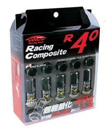 Project Kics R40 M12x1.25 Black Chrome Lug Nuts