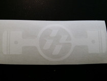 FT86 Piston Sticker, White (Pair)