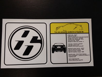 Toyota GT86 Visor Spec Sheet Sticker