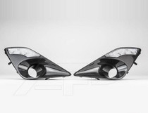 FIBER BRAKE DUCTS WITH DRL LED LIGHTS