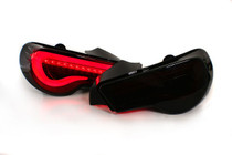 Valenti Sequential LED Taillights - Smoke Lens / Red Bar / Black Housing SPECIAL EDITION -