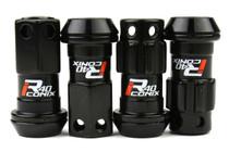 Project Kics R40 Iconix M12x1.25 Black Lug Nuts (KICS-WRIF03KK)