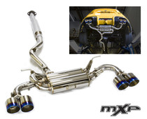 MXP SP Quad Tip Cat back Exhaust w/ Burnt Tips FRS/BRZ/86