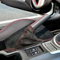 JPM Coachworks Handbrake Boot Black Alcantara Red Stitching
