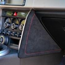 JPM Coachworks Knee Pads Black Alcantara Red Stitching