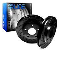 R1 Concepts E Line  Brake Rotors - Rear (Black)
