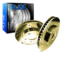 R1 Concepts E Line  Brake Rotors - Rear (Gold)