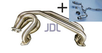 JDL UEL Header + Invidia N1 Catback (TI TIPS) - Packaged Deal