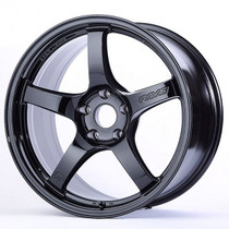 Gram Lights 57CR 18x9.5 5x100 +38 Glossy Black Wheel