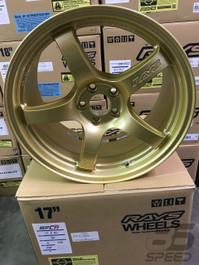 Rays Gram Lights 57CR 17x9 5x100 +38 Gold Wheel (WGCRQ38DEGP)