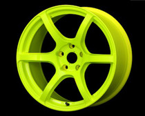 Gram Lights 57C6 18x9.5 5x100 +40 Luminous Yellow Wheel