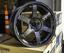 Volk TE37 Saga 18x9.5 +43 5x100 +43 Diamond Dark Gunmetal Wheel