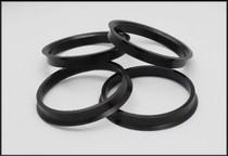 Black Plastic Hub Centric Rings FRS/BRZ/86 (2 PC)