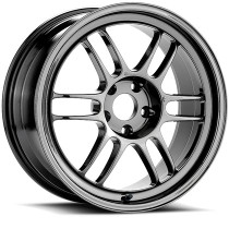 Enkei RPF1 18x9.5 5x100 +38 Shiny Black Chrome Wheel