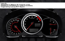 IS-F Style Magna Instruments Gauge Cluster Face - FRS / BRZ / 86