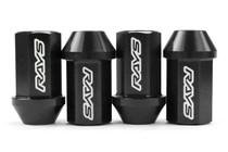 Rays Dura-Nut L42 12x1.25 Straight Type Black Lug Nuts w/Locks (WDURA4212125B)
