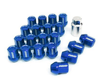 DURA-NUT L32 STRAIGHT TYPE 12X1.25 16 LUG + 4 LOCK SET - BLUE ALMITE